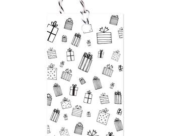 Presents - Gift Tags Set of 10 with twine