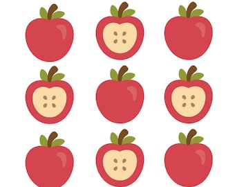 Apple Puffy Stickers