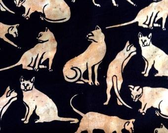 One Fat Quarter of Fabric Material - Jungle Cats - BATIK