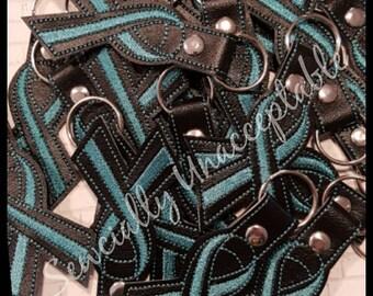 Teal Ribbon Fundraiser Key Chains