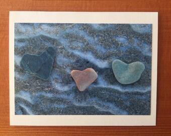 3 of Hearts notecard - Willard Beach, ME