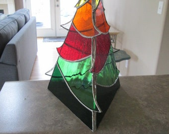 Fall 3D stained glass tree