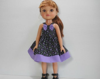 Heart for Heart Doll Dress, 14 inch Doll Dress, Fits H4H doll, Clothing for H4H, Sundress for 14 Inch Doll, READY TO SHIP, 01-1808