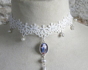 Baroque, Victorian Necklace: cat, Majesty (pastels drawing)