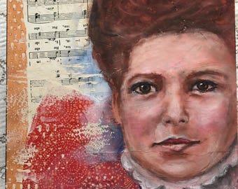 Philicienne: collage art, portraits, oil pastels, altered art, valentine