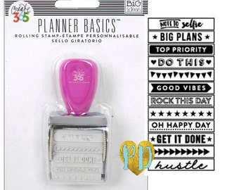 MAMBI Happy Planner Bright Roller Stamp, Planner Stamps, Journaling stamps, Scrapbooking Stamps, Header Stamp, Hustle Stamp (SMPR- 04)
