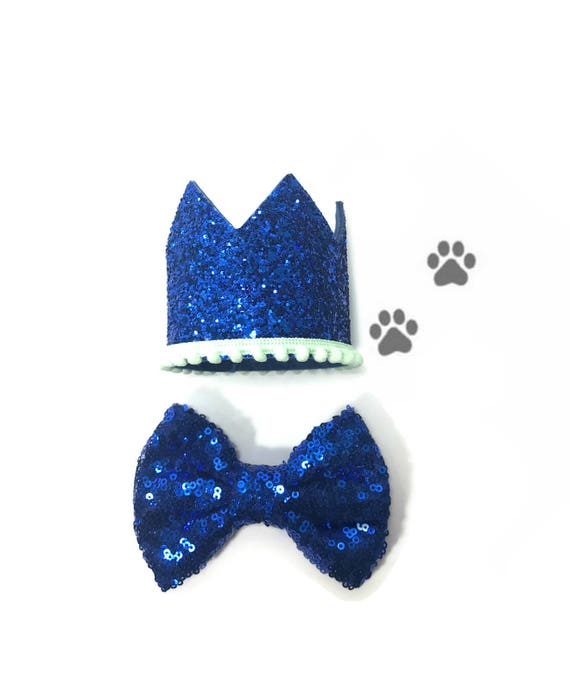 Dog Hat and Bow || Dog Birthday Party || Dog Birthday Crown || Dog Costume || Pet Party || Dalmation