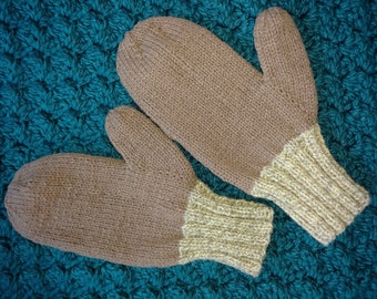 Hand Knit  Adult Wool Mittens -  Briggs and Little Yarn - Men