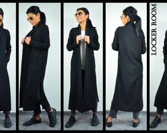 Trench Coat, Coat Women, Maxi Coat, Long Coat, Black Coat, Winter Jacket, Women's Vest, Cardigan Femme, Black Cardigan