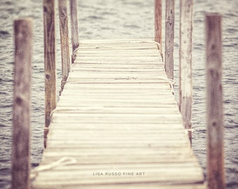 Rustic Home Print or Canvas Art, Adirondack Art, Boat Dock, Lake George, Water Wood Beige, Vertical Adirondack Decor, Rustic Home Decor.