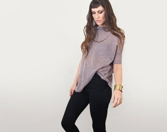 Women's Top | Box Shirt Oversized Minimalist Blouse | Cowl Neck | Boho Bohemian | Made in our USA loft | L415 & Co Clothing (#415-819)
