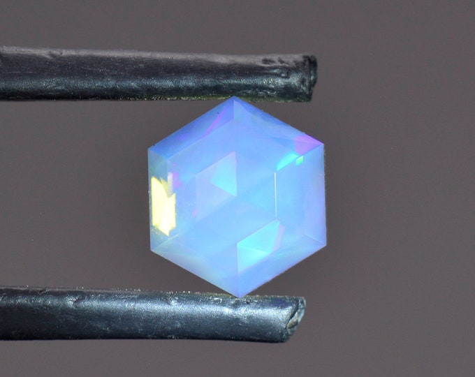 Stunning Custom Faceted Opal Gemstone from Ethiopia 1.71 cts. 7.9 mm., Rose Cut.