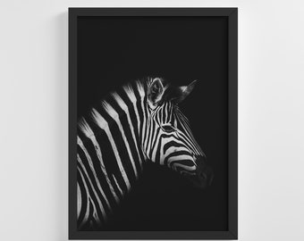 Safari Zebra Head Wildlife Frameless Photo Poster Animal Art Print Stylish Home Decoration Wall Art Nursery Decor Living Room | IC148