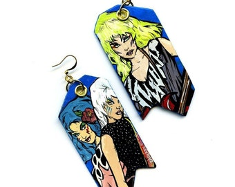 Misfits Jem and the Holograms painted earrings - Stormer Pizzazz and Roxy