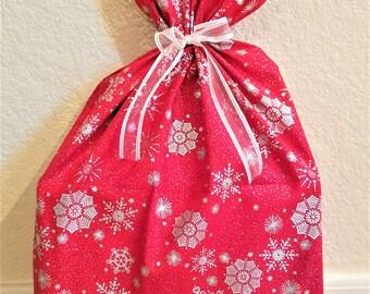 Metallic Snowflake Gift Bag