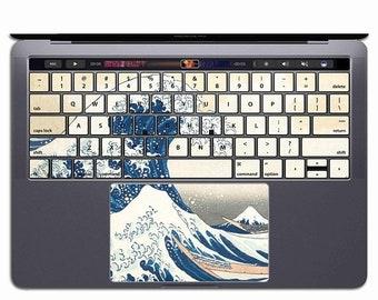 MacBook Keyboard Stickers MacBook Keyboard Cover MacBook Keyboard Skin MacBook Keyboard Decal Pro 13 15 Case Great Wave Off Kanagawa KS 106
