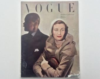 1940s Vogue Magazine : British Vogue March 1949