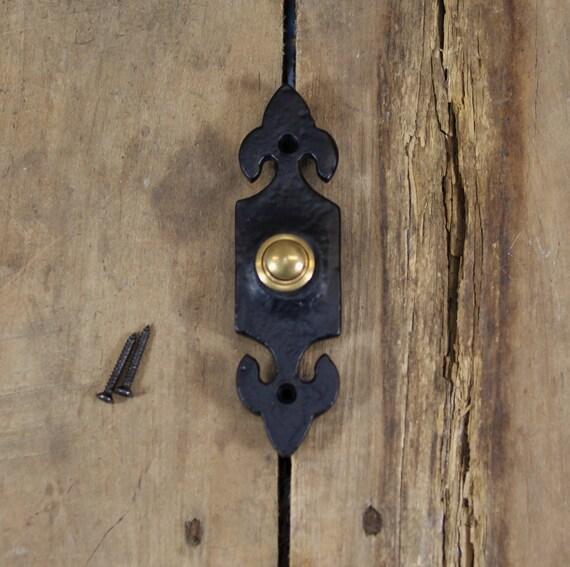 Incroyable Ornate Iron Door Bell Button Mechanism