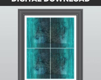 DIGITAL DOWNLOAD, Instant Download, 11 x 14, 8 x 10, Teal, Aqua, Turquoise, Blue, Gray, Abstract, Wall Decor, Modern Art, Digital Print, art
