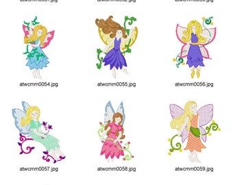 Fairies. ( 10 Machine Embroidery Designs from ATW )