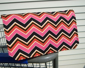 40% Off Coupon Organizer  Holder - Attaches to your Shopping Cart - Hot Pink, Black, Orange  Chevron - Zig Zag