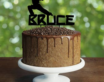 Personalised Martial Arts Cake Topper, Customizable birthday cake topper, party decorations, Cake topper with personalized name,martial arts
