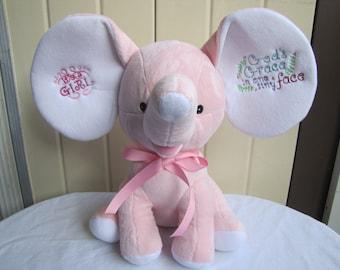 It's a Girl Pink Cubbie Elephant