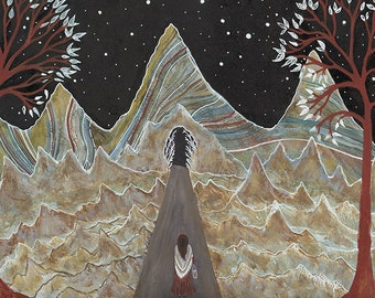 Fine Art Print // Sienna & The Secret Forest