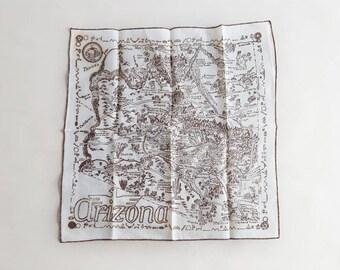 Vintage Arizona State Handkerchief A Foard Print