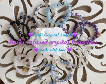 Custom healing crystal bracelets