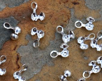 Silver Ball Chain Crimp Connectors - Nunn Design Pick Your Own Bulk Price