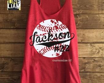baseball mom shirt, baseball tank top, baseball shirt, custom baseball shirt, distressed baseball shirt, baseball tank top, softball shirt