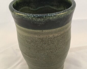 Handmade Ceramic Tumbler - Wheel Thrown Cup - High Fire Pottery - Stoneware
