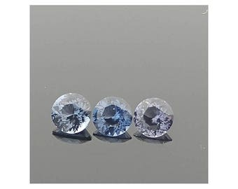 Blue Spinel trio 5.3mm