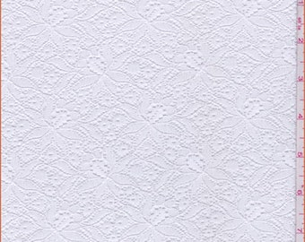 White Fine Floral Lace, Fabric By The Yard