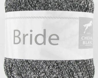 No. 030 white horse BRIDLE fancy yarn