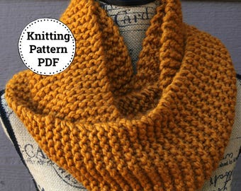 Knitting Pattern | Knit Cowl Pattern | Cowl Knitting Pattern  | Scarf Pattern | Easy Knitting Pattern | Knitting Patterns