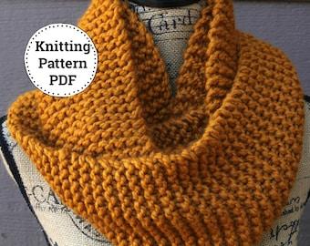 Knitting Pattern   Knit Cowl Pattern   Cowl Knitting Pattern    Scarf Pattern   Easy Knitting Pattern   Knitting Patterns