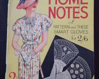 Vintage Home Notes Magazine July 1936; London England; Ladies Magazine