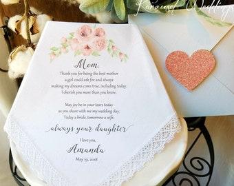 Wedding handkerchiefs-Mother of the Bride Handkerchief-Wedding Hankerchief-PRINTED-CUSTOMIZED-Wedding Hankies-Mother of the Bride Gift