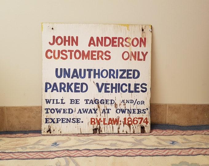 John Anderson Hamburger Stand Sign
