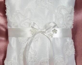 White Ring bearer pillow/Bridal pillow/wedding accessory