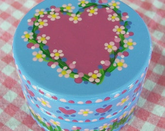 Hand Painted Love Boxes Pink Floral Heart Box Wood