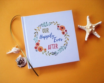 FREE SHIPPING Our First Wedding Anniversary Journal · First Anniversary Gift · Our Happily Ever After Wedding Diary Keepsake · Bride & Groom