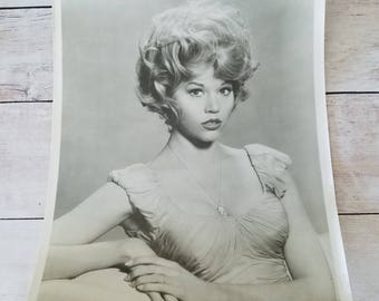 Vintage Jane Fonda Photograph/ Jane Fonda/ Vintage Black and White Photo/ Vintage Photograph/ Jane Fonda Picture/ Vintage Photo