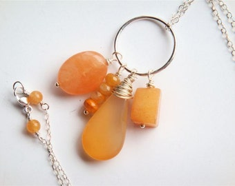 Peach Cluster Necklace No. 1