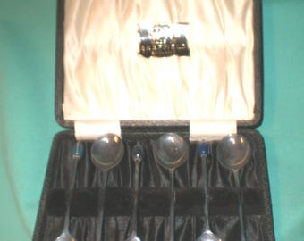set of six tea spoons EPNS, Sheffield / Art Deco/silver plated/ British