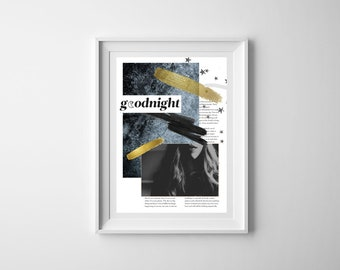 Customisable Modern/Trendy Midnight Blue Collage