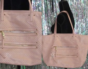Soft Pink Leather Large Tote *Excellent Condition