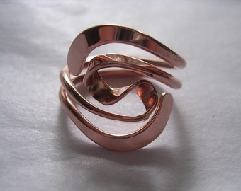 Winged Two Turn Vortex Energy Ring™ in Pure Copper